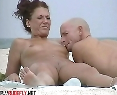 Very horny milf rubbing boobs in nude careen