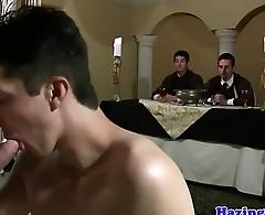 Gay frat interview amble procure anal pounding