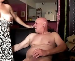 Super cute chubby chick loves to suck sock and eat cum