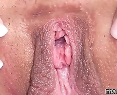 Horny czech chick opens up her slim vagina to the extreme