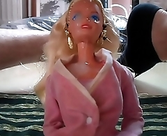 Cum on barbie face