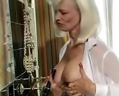 Pierced Mom Fucks Hairbrush then gets Anal. See pt2 at goddessheelsonline.co.uk