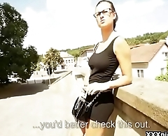 Public Pickup Girl Seduces Tourist For A good Fuck And Dollars 27