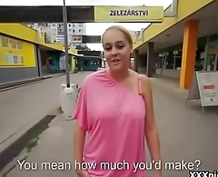 Public Pickup Girl Seduces Tourist For A good Fuck And Dollars 29