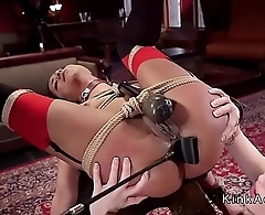 Hot wife trained by master economize in threesome