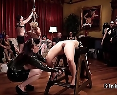 Bdsm orgy party regarding latex and spanking