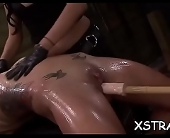 Hardcore bondage be expeditious for obese ass blondie