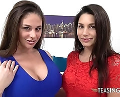Two mean cockteases double-team a dildo to the fullest you watch