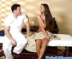Dicksucking massage babe working on cock