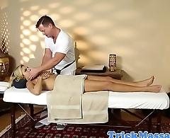 Amateur teen cocksucking after massage