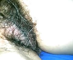 Sleeping wife hairy pussy. Amateur.