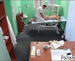 Huge rod bangs doctor'_s pussy