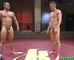 Muscular jock assfucking sub after wrestling