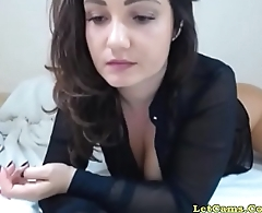 Big-tits whore tease and fuck hither her dildo LetCams.Com