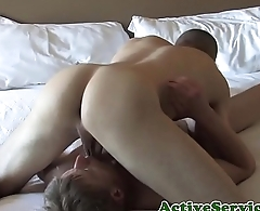 Amateur soldiers dicksucking in gay sixtynine