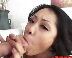 Sweet asian pornstar sucking hard dick