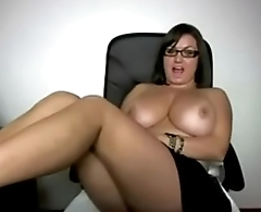 Thick Simple Busty Chick With Glasses Sexy AF - See her at - xVixXxenCams.com