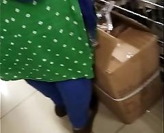 Punjabi beamy ass in a shopping mall