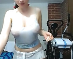 Nice tits white ecumenical wet oil porn show