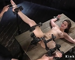Slave beauty gets perfect ass paddled