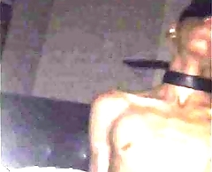 Hot Tanned Tied Up Boy Gets Dick Sucked by Blondie Under Bedsheet
