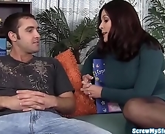 Stepmom Magdalene St Michaels fucks goods