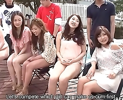 Summer Asian girls sucking on cocks in the sunny out of pocket