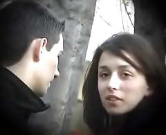 Bulgarian Sexy &amp_ Hot Brunette from Plovdiv Ride Boyfriends Blarney on Bench Kissing Licking &amp_ Fondling - Lucky Future Husband Who Will Own Such Dynamite - Part 3