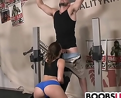 Busty Lily Love gets fucked by her trainer