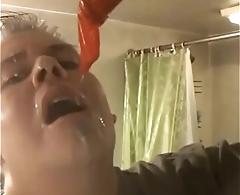 Str8 guy calling himself a faggot covered in cum