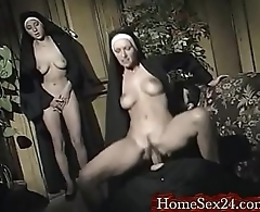 Nuns having fun with their father more www.homesex24.com