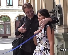 Hungarian slave first time naked in public
