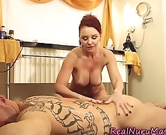 Milf masseuse gets banged