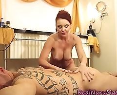 Milf masseuse gets banged