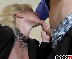 Busty blonde MILF demands dick