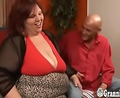 Young Dude Banging Redhead SSBBW GILF Almost Huge Titties